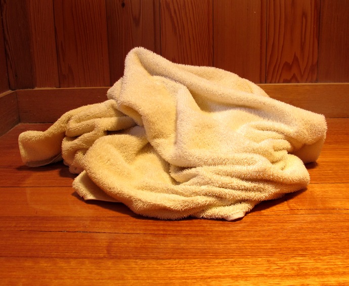 Towel On The Bathroom Floor Kit Campbell